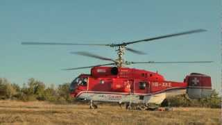 Смяна с хеликоптер-антена ТВ кула Русе.TV tower Ruse,Bulgaria.HD