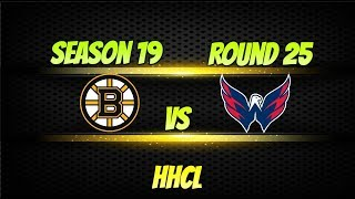 Roblox HHCL Stagione 19 Round 25 Boston Bruins vs Washington Captials Highlights. 10-3 Washington