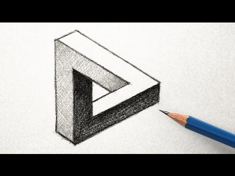 optical illusions illusion draw triangle easy drawings 3d drawing way cool step basic simple awesome ilusion sketches amazing cube impossible