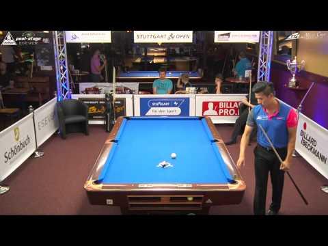 Stuttgart Open 2015, No. 14, Tim Schöbel vs. Michael Au Yeung, 10-Ball, Pool-Billard