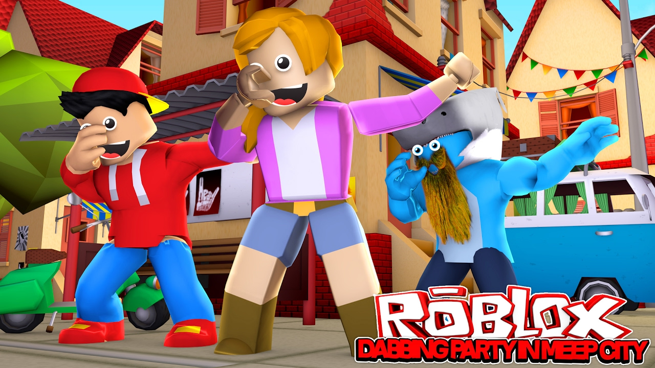 Dabbing Party Roblox Meepcity W Littlekelly Sharky Ropo
