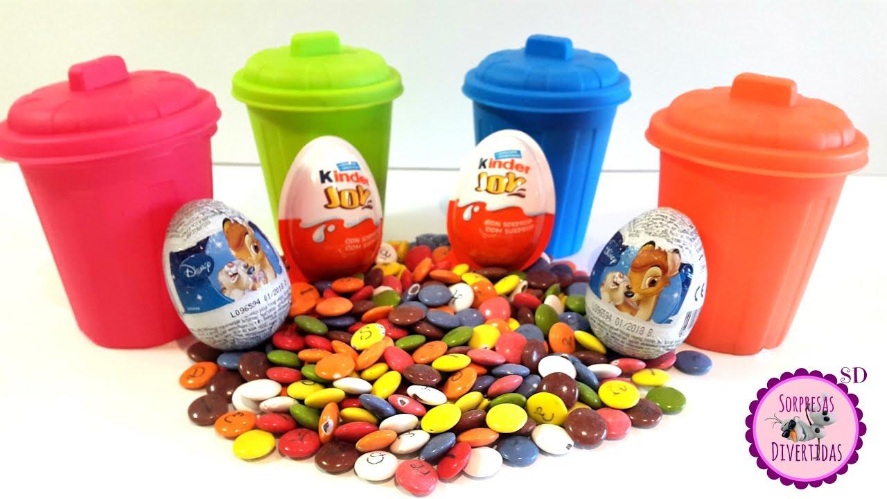 De Aprende Huevos Y Basura Lacasitos Sorpresa En La Colores Cubos 4A3jLR5