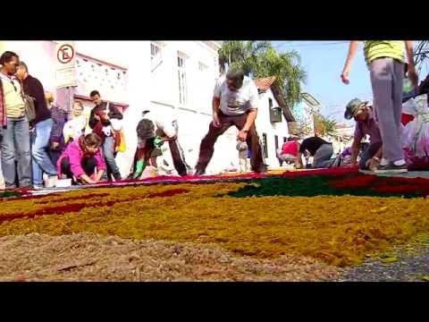 Tradicionais tapetes de Corpus Christi colorem as ruas de Santana de Parnaíba