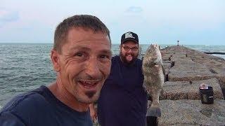 Salt Water Fishing, Black Drum on the Jetties 1/6