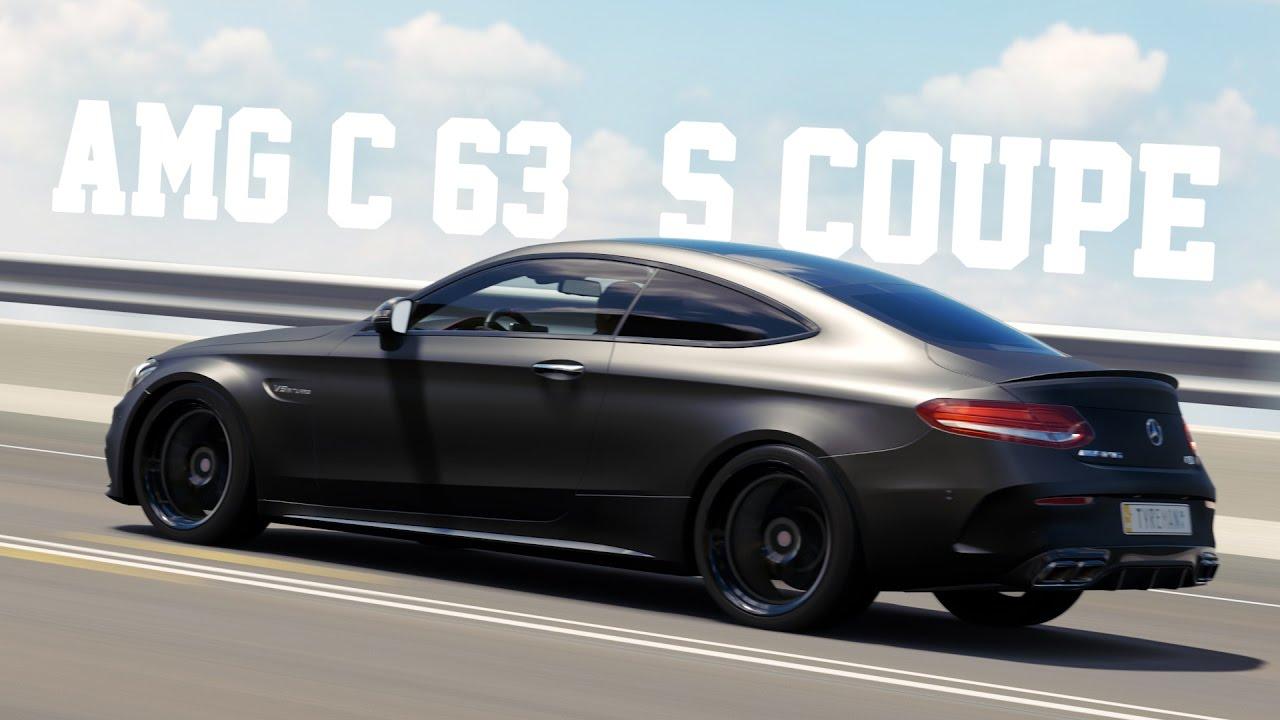 Bmw Matte Black >> MATTE BLACK CARBON 2016 Mercedes AMG C63 S Coupe - Forza Horizon 3 - YouTube