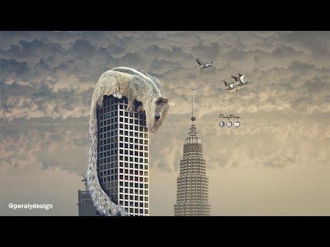 ARDILLA GIGANTE | Surrealista Fotomanipulación Avanzada con Photoshop [Tutorial de Photoshop] thumbnail