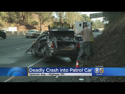 CHP CRASH:  Woman dies after crashing into a CHP vehicle in Marin