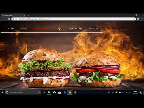 Restaurant Web Design Using HTML And CSS