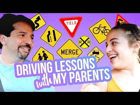 DRIVING LESSONS WITH MY PARENTS | Baby Ariel