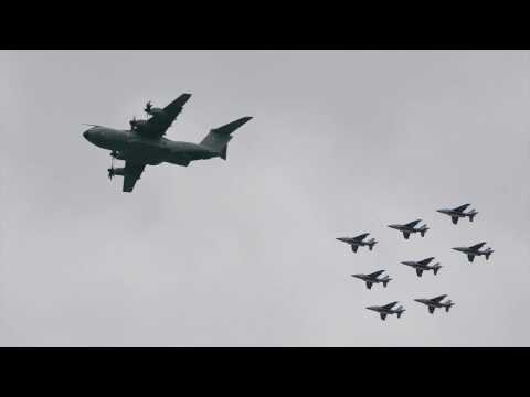 French fighter jets flyover NY New York City