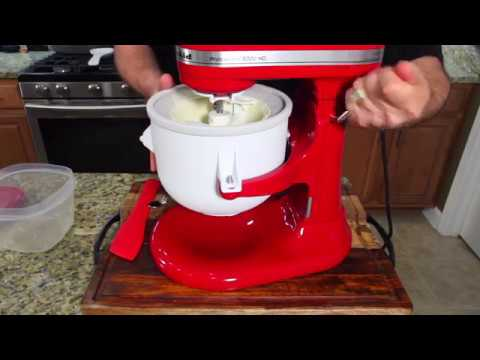 How To Use The Kitchenaid Ice Cream Maker Attachment