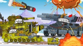 Evil tank vs good tank. Machine tank cartoon. Animation about tanks. Monster Truck kids.