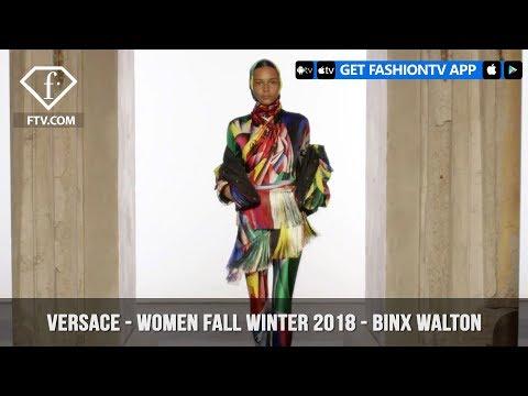 Versace Presents Binx Walton Futurism with Color Women Fall/Winter 2018 | FashionTV | FTV