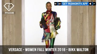 Versace Presents Binx Walton Futurism with Color Women Fall/Winter 2018 | FashionTV | FTV