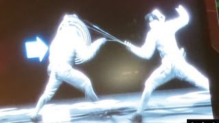 London Olympics 2012 Epee Fencing Rules ExCel (from Shin Lam South Korean Britta Heidemann Match)