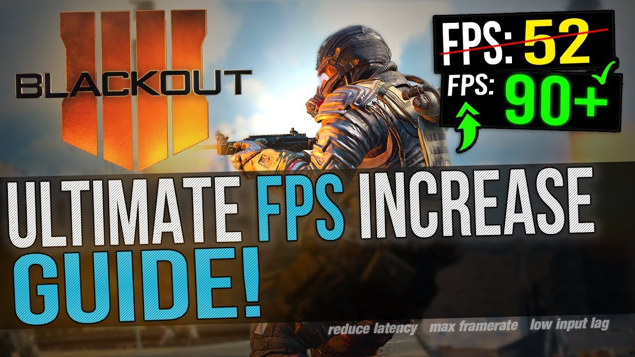 🔧 Black Ops 4 BLACKOUT BETA: Dramatically increase performance / FPS with  any setup! Battle Royale