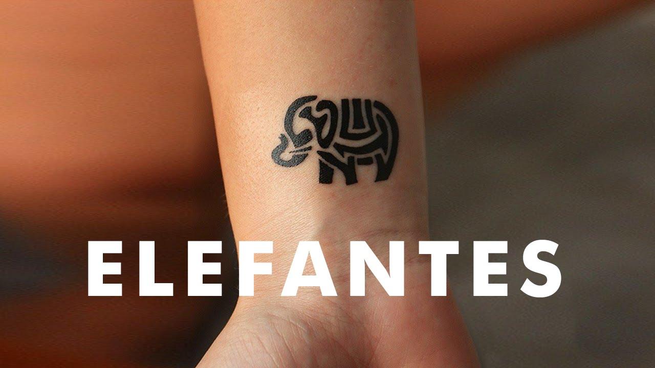 Peque os tatuajes de elefantes youtube - Dibujos tribales para tatuar ...