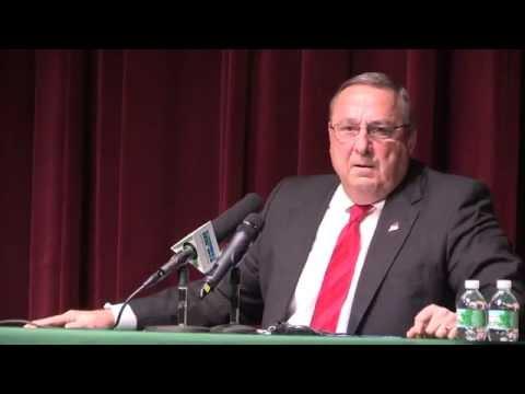 Governor Paul LePage visits Mount Desert Island High School