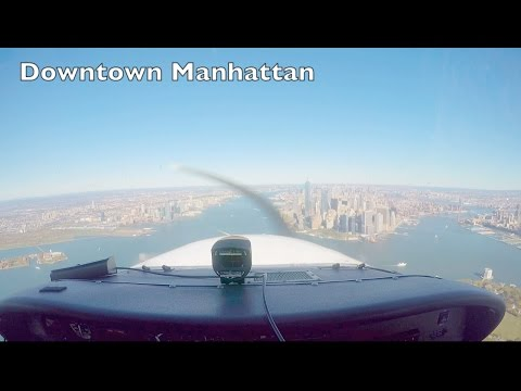 || THE SKYLINE ROUTE || Flying an Airplane Over Manhattan, New York City