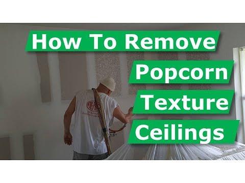DIY How Pros Remove Popcorn Ceilings & Spray Textured Walls