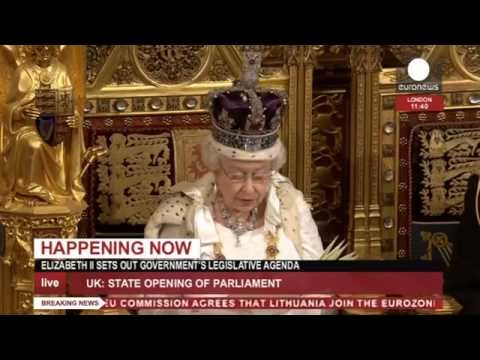 Queen Elizabeth II Speech to Parliament 2014 (recorded live feed)