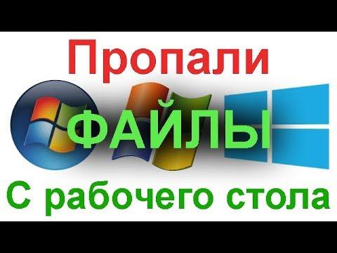 Что делать если пропали все файлы и документы с рабочего стола Windows