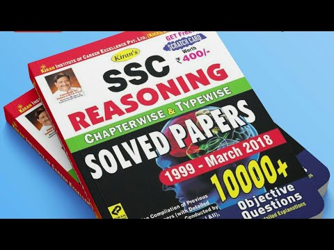SSC REASONING CHAPTERWISE & TYPEWISE SOLVED PAPER 1997 APRIL 2018 All in one 