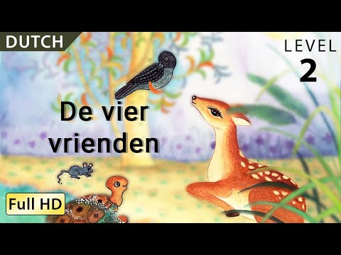 """The Four Friends: Learn Dutch with subtitles - Story for Children """"BookBox.com"""""""