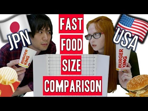 Japan vs USA | How different are fast food menus? - YouTube