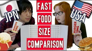 Japan vs USA | How different are fast food menus? by : Rachel and Jun