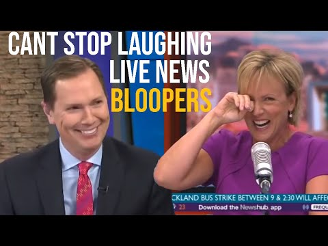 News Reporters Cant Stop Laughing Bloopers