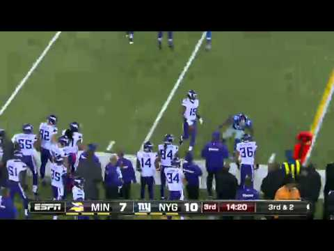 Week 7  Minnesota Vikings vs  New York Giants high