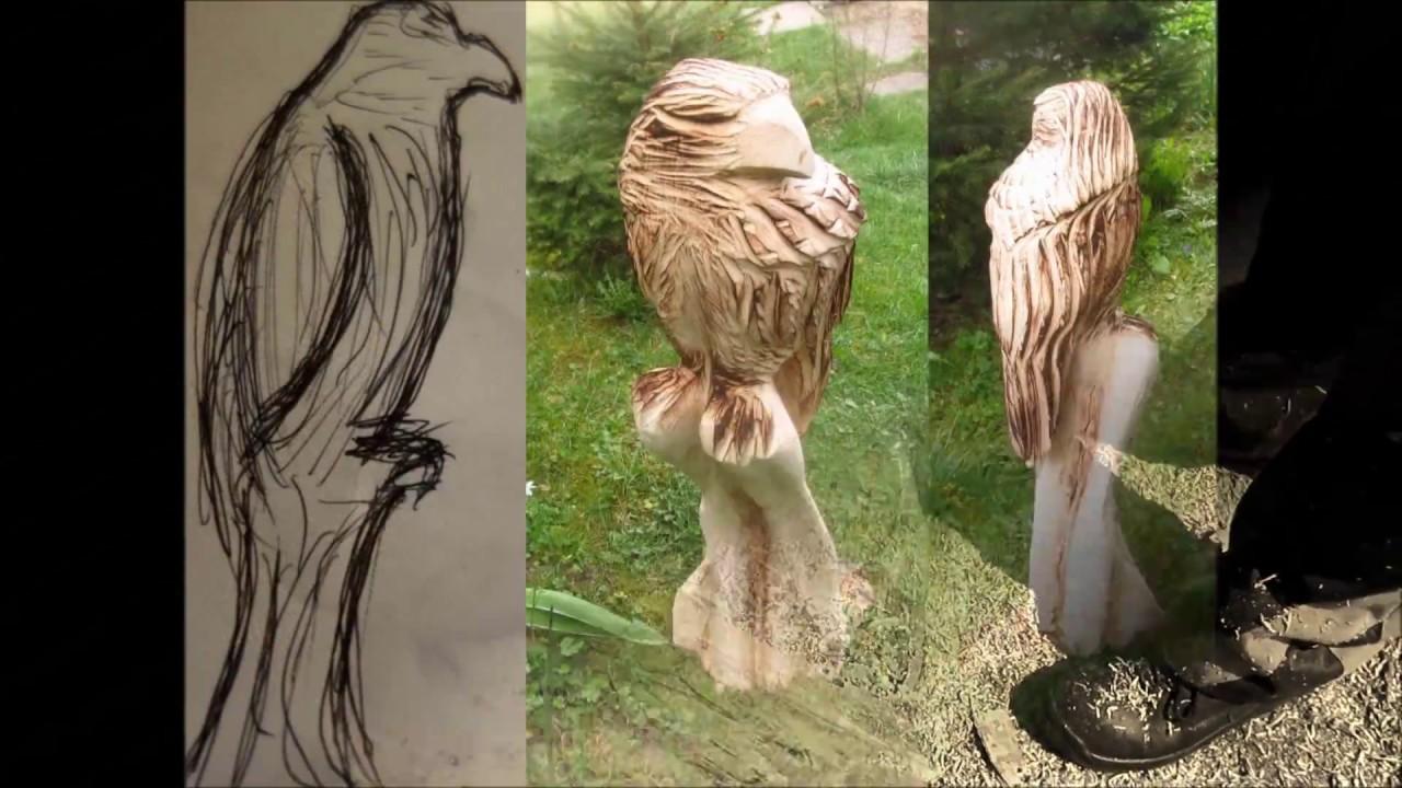 adler schnitzen mit der motors ge oder kettens ge chain saw wood carving eagle full hd youtube. Black Bedroom Furniture Sets. Home Design Ideas