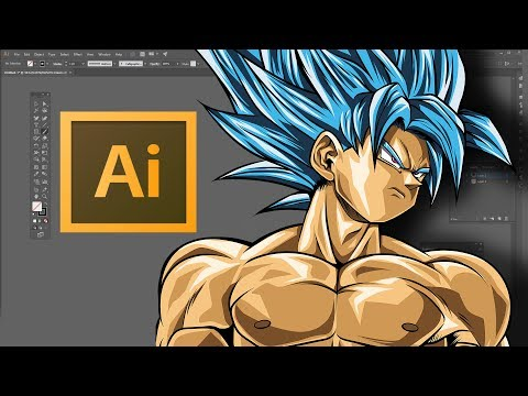 Speed Art - Goku Super Saiyan Blue (Adobe Illustrator CC)