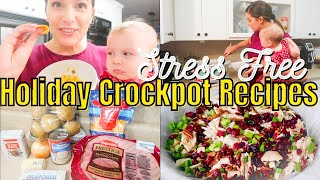 Holiday crockpot recipes for thanksgiving & christmas