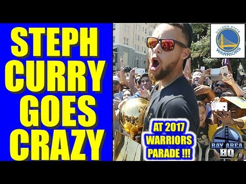 STEPHEN CURRY GOES CRAZY AT GOLDEN STATE 2017 WARRIORS PARADE !! EXCLUSIVE HIGHLIGHTS, AYESHA CURRY