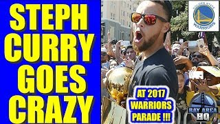 STEPH CURRY GOES CRAZY at 2017 WARRIORS PARADE !! EXCLUSIVE GOLDEN STATE HIGHLIGHTS, AYESHA CURRY