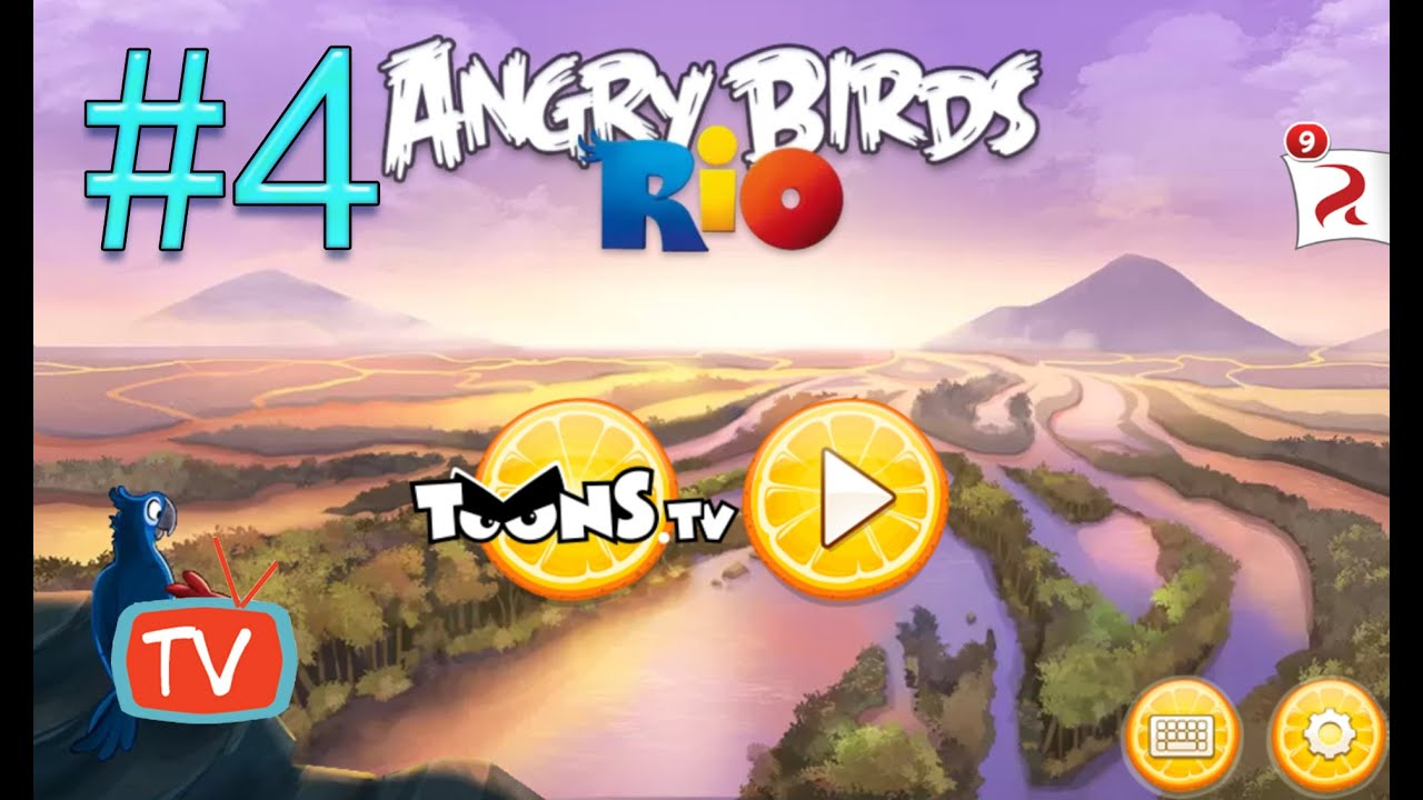 angry birds rio 2 part 4 blossom river gameplay walktrough youtube. Black Bedroom Furniture Sets. Home Design Ideas