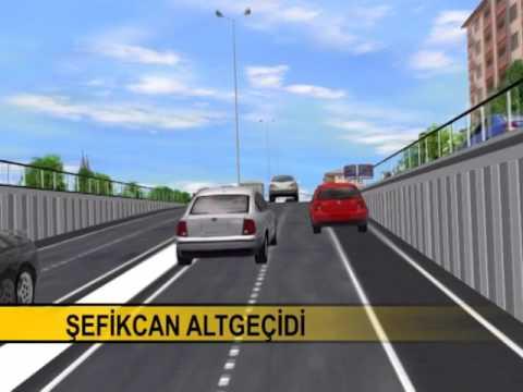 Konya büyükşehir çevre yolu alt ve üst geçit animasyonları