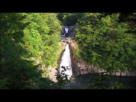 秋田県の鳥海山の法体の滝 キャンプに最高