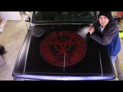 How To Install A Large Vinyl Decal Or Hood Sticker   Applical.com