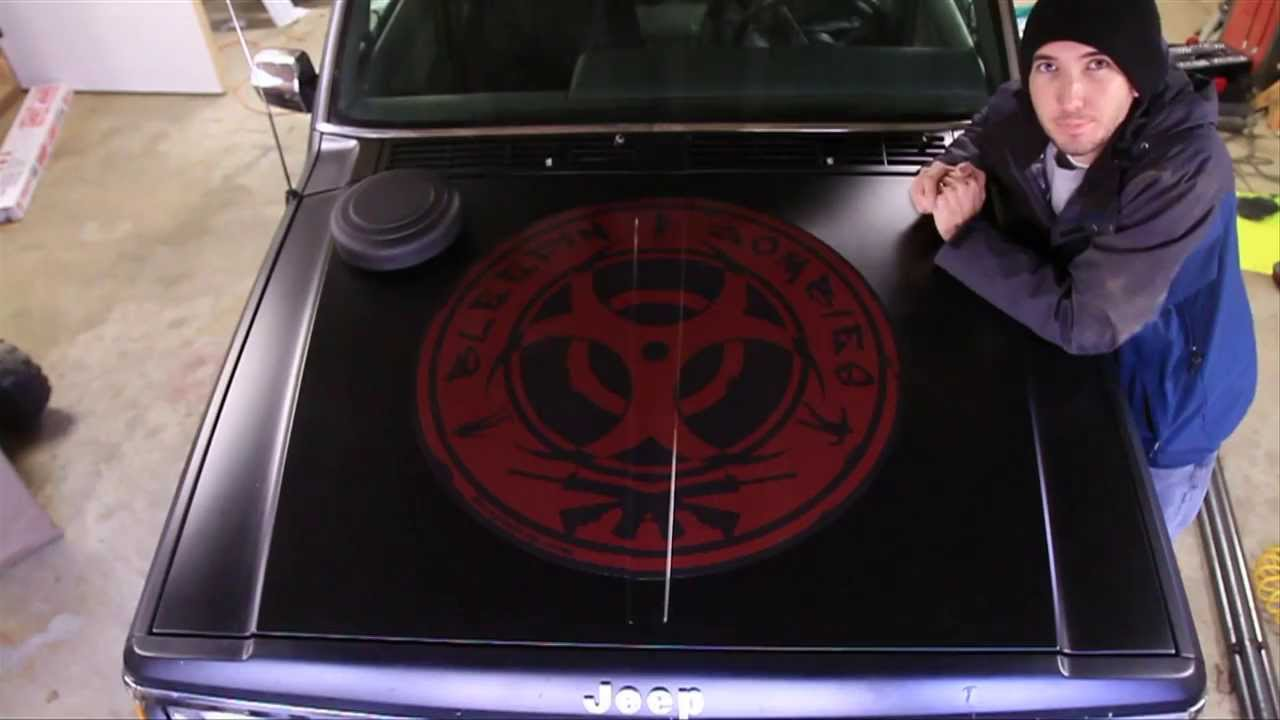 How to install a large vinyl decal or hood sticker applical com