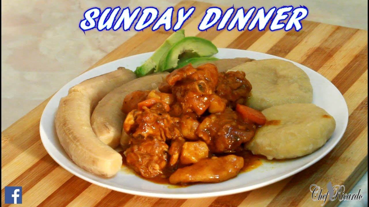 Jamaican Hard Food With Curry Chicken Sunday Dinner Recipes By