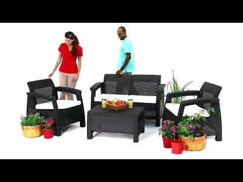 Садовая мебель Corfu из искусственного ротанга