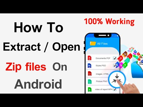 How To Zip Files Open Android Mobiles In Telugu 2020 New Trick..zip