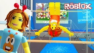 Gymnastics ! Let's Play Roblox Fun Video Games!
