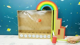 How to Make Hammer Balls Colors Game from Cardboard