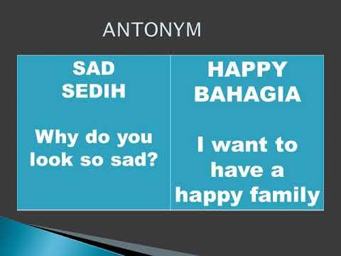 Learn English and Indonesian about Antonym / Belajar Lawan Kata Inggris Indonesia