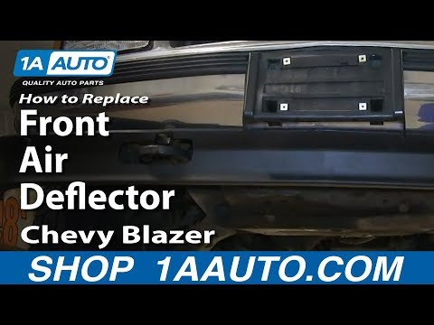 How To replace Install Front Air Deflector 1992-00 Chevy Blazer Tahoe Pickup