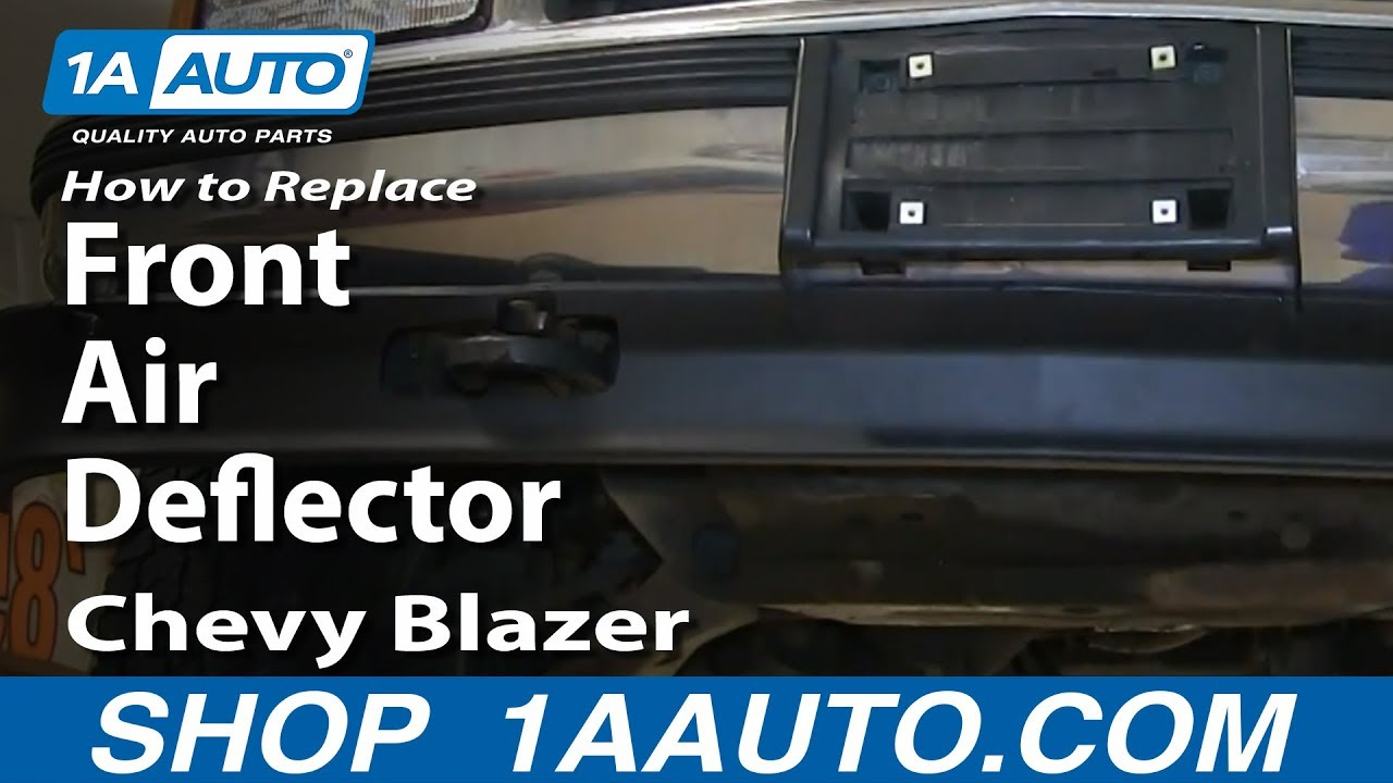 hight resolution of how to replace install front air deflector 1992 00 chevy blazer tahoe pickup